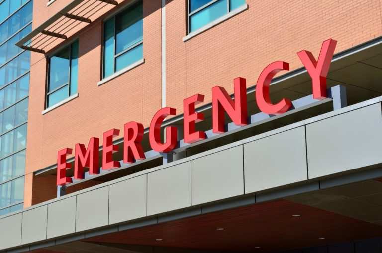 Emergency Sign at a hospital
